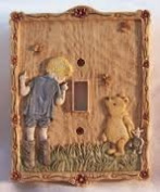 Classic Pooh & Christopher Robin Light Switch Plate