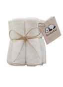 Bamboobino Baby Washcloths / Wipes, Washable & Reusable (5-pack) Hypoallergenic, Super Soft and Absorbent, Eco-Friendly Rayon from Bamboo & Organic Cotton Terrycloth
