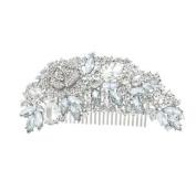 Bridal Rhinestones Flower Hair Comb