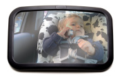Top Back Seat Mirror - 150. Full Sight of Rear Facing Infant Car Seat - Crystal Clear Reflection of Your Precious Child - Keeps Baby (and Driver) Calm and Happy in Car - Adjustable, Convex and Shatterproof Glass