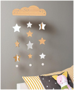 Petit Collage Deluxe Bamboo Mobile - Starry Sky