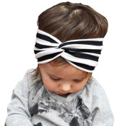 FEITONG(TM) 2015 New Baby Girls Elastic Stripe Cross Cute Beautiful Headband Baby Hair Accessories
