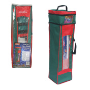 Wrapping Paper Storage Bag- Heavy Duty Christmas Gift Wrap Bag with Handles
