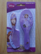 DISNEY SOFIA THE FIRST PRINCESS HAIR BRUSH AND COMB SET