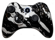 Xbox 360 White Hydro Dipped / Modded Rapid Fire Controller / Sniper Quick Scope / Drop Shot / Quick Aim / Zombies Auto Aim / Mimic / Burst / For COD / Modern Warfare / Black Ops / Gears of War & More / White Leds / Custom Buttons
