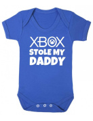 Purple Penguin Clothing Baby Grow - Xbox Stole My Daddy