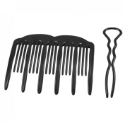 French Hair Twist Styling Comb /French Twist Holder Side Comb And U Shape Pin For Hair Updo Tool