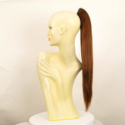 Hairpiece ponytail woman 70 cm long smooth golden brown copper ref 7 30