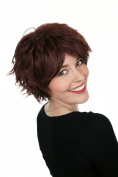 Prettyland C395B - short layered cut wig trend hairstyle in reddish brown