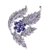 Women Gifts Elegant Lavender Flower Brooch Pin Clothing Accessories