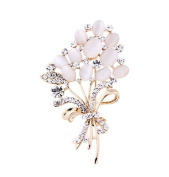 Women Gifts Fashion Plants Flowers Brooch Pin Clothing Accessories D