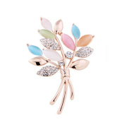 Women Gifts Fashion Plants Flowers Brooch Pin Clothing Accessories A