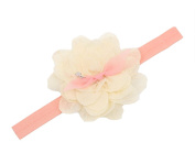 JTC Baby Kid Girl Lace Flower Princess Stretch Headband Hairband Infant Photo Prop