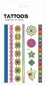 Body Art Temporary Removable Tattoo Stickers Colourful Patterns AS008 Sticker Tattoo - FashionLife