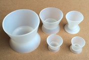 5 PCS of White Lab Flexible Silicon Rubber Mixing Bowl