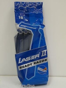 200 X LASER II TWIN BLADE DISPOSABLE RAZOR BLADES *20 PACKS OF 10*