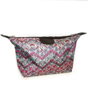 KNITTED Design Print Lightweight Holiday / Weekend WASH BAG / Make-up Bag / Compact Toilet Bag