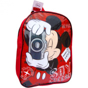 Disney Mickey Mouse Red Global Explorer School Travel Backpack Bag