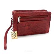 GENUINE LEATHER DOUBLE LEATHER WRIST BAG