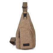 Sanwood Men's Canvas Sling Messenger Shoulder Bag Backpack