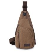 Sanwood Men's Canvas Sling Messenger Shoulder Bag Backpack