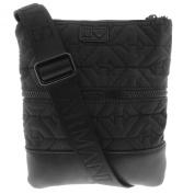 Armani Jeans Mens Quilted Shoulder Bag B6282 S1 - Black