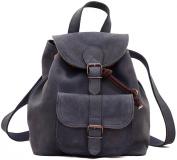 PAUL MARIUS Vintage leather backpack LE BAROUDEUR rucksack vintage style petrol blue