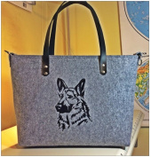Women's Handbag, Shoulder Bag, shoulder bags, shoulder bag, Felt-Shepherd Dog Design