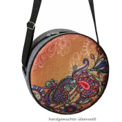 "Womens Tote Handbag Shoulder Bag Felt Circular ""Fantasy"""