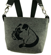 Women's Handbag, Shoulder Bag, shoulder bags, shoulder bag, felt Case-Boxer Dog Design