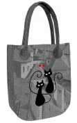 Felt Bag Handbag Shoulder Bag Women's Handbag Purse CITY Cat II