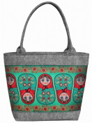 "Felt Bag, Ladies Women's Bag, handbag, handbag, shoulder bag, Matryoshkas ""POLO"""