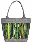 "Womens Tote Handbag Shoulder Bag Felt POLO ""Bamboo"""
