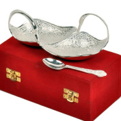 Little India Duck Shape Freshener Bowl 11.43 Cm X 5.08 Cm Silver
