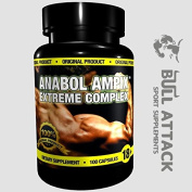 ANABOL AMPIX - 100 CAPSULES - Potent Anabolic Blend - Arginine, Creatine Ethyl Ester, Taurine, Beta Alanine - 1st CLASS P & P