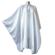 DMI Vintage Barber Cape, Hairdressing Cape, Black on White Pinstripe