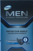 Tena for Men Protective Shield Extra Light 14 Pads x 12 Packs