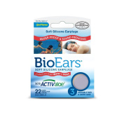 Bio Ears Soft Silicone EarPlugs Protection - 3 Pairs