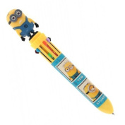 OFFICIAL DESPICABLE ME MINIONS 10 COLOUR PEN SCHOOL FUN KIDS STATIONARY BALL NEW