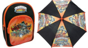 Bundle deal - Skylanders - Backpack & Umbrella - Giants Design.