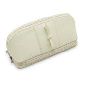 Morelle Rachel Leather Cosmetic Jewellery Case, Cream
