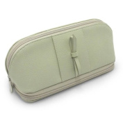 Morelle & Co. Rachel Leather Cosmetic/Jewellery Case, Soft Green