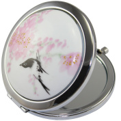 LeexGroup® 2014 New Vintage Chinese Landscape Flower Bird Double Sides (One is Normal,Another is Magnifying)Portable Foldable Pocket Metal Makeup Compact Mirror Woman Cosmetic Mirror