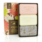 Pre de Provence La Collection Florale Soap Gift Box with Three 100 Gramme Soaps - Includes 1 Peony, 1 Moondance and 1 Lavender