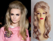 Deluxe 1960's Barbarella Beehive Long Blonde Fashion Costume Wig