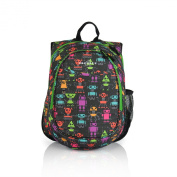 Obersee Kids Pre-School All-in-One Backpack with Cooler, Robots