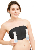 Simple Wishes Hands Free Breastpump Bra, Black, XS to L