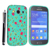 GSD STYLE YOUR MOBILE [TM] Samsung Galaxy Ace 4 SM-G357 / G357FZ Gel Rubber Silicone Protection Case Cover +STYLUS