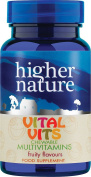 Higher Nature Vital Vits Childrens Chewable Multi Vitamins - Pack of 30 Tablets