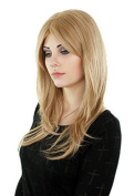 Prettyland - C1703 layer straight casual hairstyle 60cm long wig in blonde